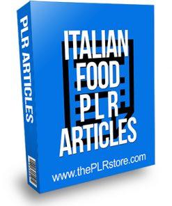 Italian Food PLR Articles
