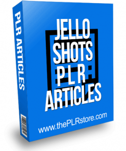 Jello Shots PLR Articles