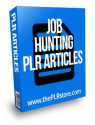 job hunting plr articles