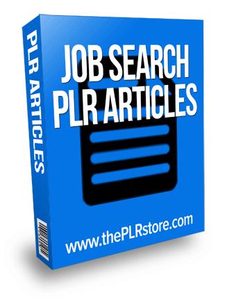 job search plr articles