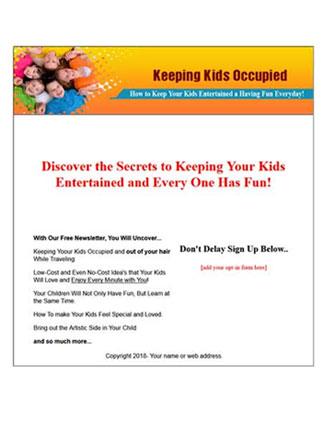 keep kids occupied plr autoresponder messages