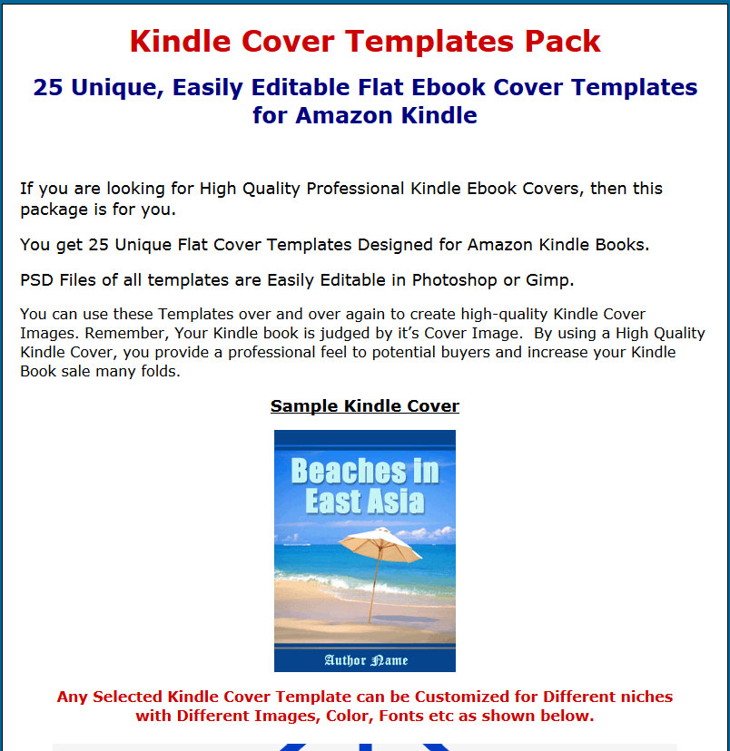 kindle cover templates mrr