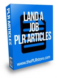 land a job plr articles