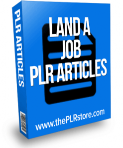 land a job plr articles