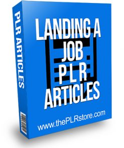 Landing a Job PLR Articles