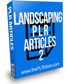 Landscaping PLR Articles 2