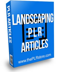 Landscaping PLR Articles