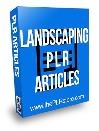 Landscaping PLR Articles