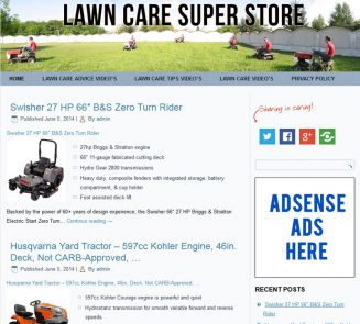 Lawn Care PLR Amazon Turnkey Store Website lawn care plr amazon store website cover 327x295