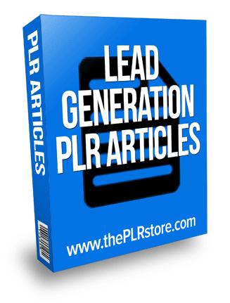 lead generation plr articles