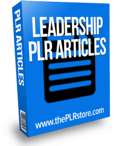 leadership plr articles