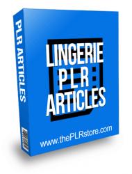 Lingerie PLR Articles