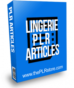 Lingerie PLR Articles