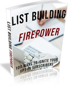List Building Firepower Ebook PLR