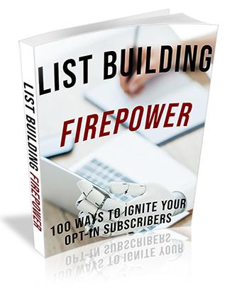 List Building Firepower Ebook PLR