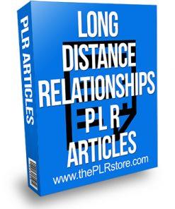Long Distance Relationships PLR Articles