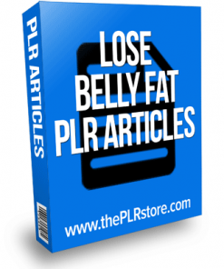 lose belly fat plr articles