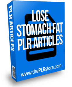 lose stomach fat plr articles