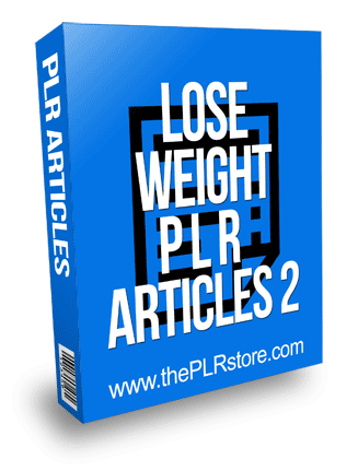 Lose Weight PLR Articles 2