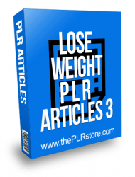 Lose Weight PLR Articles 3