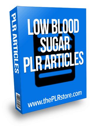 low blood sugar plr articles