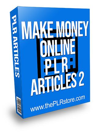 Make Money Online PLR Articles 2