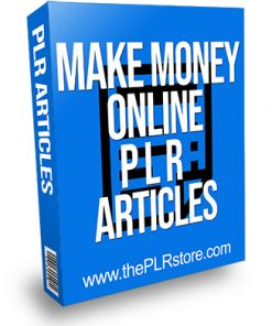 Make Money Online PLR Articles