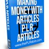 Making Money with Articles PLR Articles