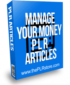 Manage Your Money PLR Articles