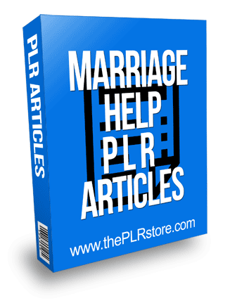 Marriage Help PLR Articles