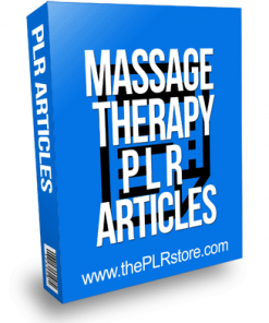 Massage Therapy PLR Articles