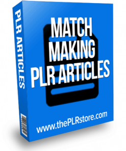 match making plr articles
