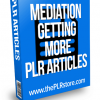 meditation getting more plr articles