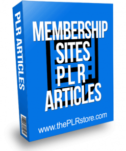 Membership Sites PLR Articles