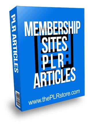 Membership Sites PLR Articles