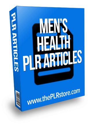 mens health plr articles