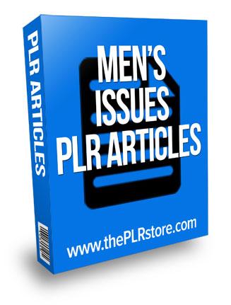 mens issues plr articles