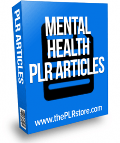 mental health plr articles