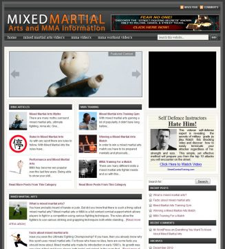 Mixed Martial Arts PLR Website with private label rights mixed martial arts plr website main 327x361