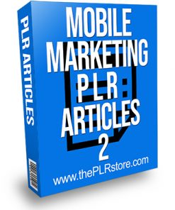 Mobile Marketing PLR Articles 2