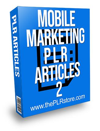 Mobile Marketing PLR Articles 2
