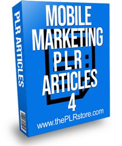 Mobile Marketing PLR Articles 4
