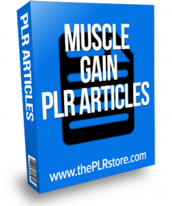 muscle gain plr articles