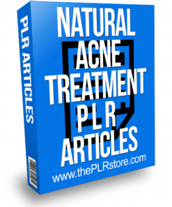 Natural Acne Treatment PLR Articles