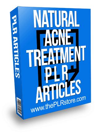 Natural Acne Treatment PLR Articles