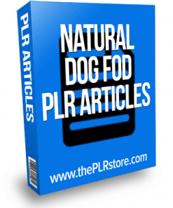 natural dog food plr articles