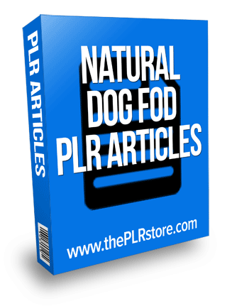 natural dog food plr articles