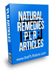 Natural Remedies PLR Articles