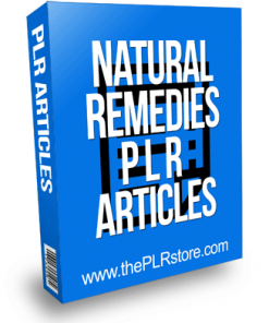 Natural Remedies PLR Articles
