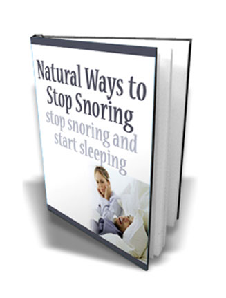 Natural Ways To Stop Snoring Ebook